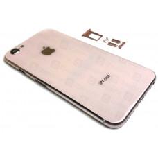 Корпус iPhone 6 в стиле iPhone 8 (розовое стекло)