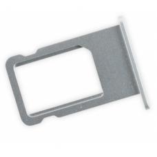 Лоток сим (SIM) карты iPhone 6 белый/серебристый