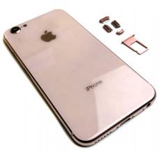 Корпус iPhone 6S в стиле iPhone 8 (розовое стекло)