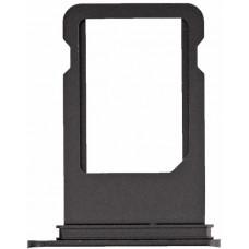 Лоток сим (SIM) карты iPhone 7 Plus черный глянцевый