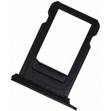 Лоток сим (SIM) карты iPhone 7 Plus черный матовый
