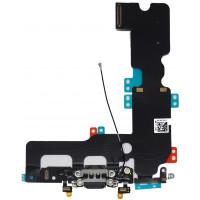 Шлейф нижний с разъемом зарядки и микрофоном черный iPhone 7 Plus