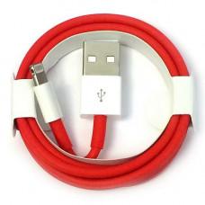 Кабель зарядки Apple iPhone RED красный