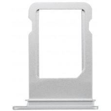 Лоток сим (SIM) карты iPhone 7 белый/серебристый