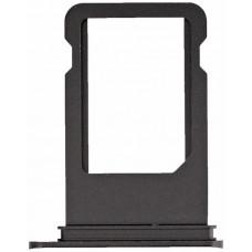 Лоток сим (SIM) карты iPhone 7 черный глянцевый