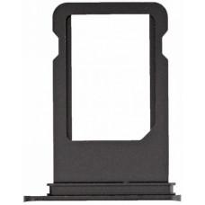 Лоток сим (SIM) карты iPhone 7 черный матовый