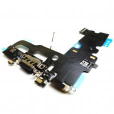 Шлейф нижний iPhone 7 с разъемом зарядки черный