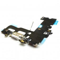 Шлейф нижний iPhone 7 с разъемом зарядки белый