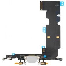 Шлейф нижний с разъемом зарядки белый iPhone 8 Plus