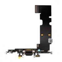 Шлейф нижний с разъемом зарядки черный iPhone 8 Plus