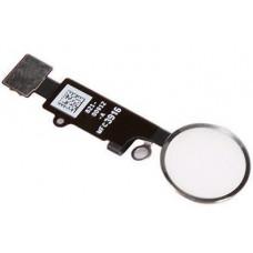 Кнопка HOME iPhone 7/7 Plus/8/8 Plus белая (серебро)