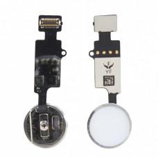 Кнопка Home iPhone 7/8/7+/8+ v.3 (YF) сенсорная белая (серебро)