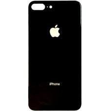 Заднее стекло корпуса iPhone 8 Plus (черное)