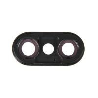Стекло задней камеры iPhone X (черное)