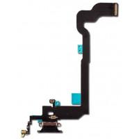 Шлейф нижний с разъемом зарядки черный iPhone X