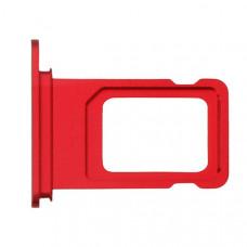 Лоток сим (SIM) карты iPhone XR красный