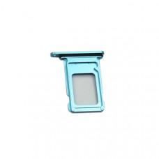 Сим лоток для 2х sim карт iPhone XR синий
