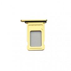 Лоток сим (2-SIM) карты iPhone XR желтый