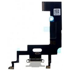 Шлейф нижний с разъемом зарядки белый iPhone XR