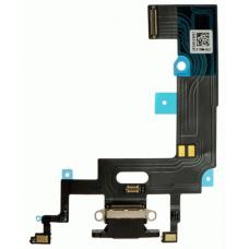 Шлейф нижний с разъемом зарядки черный iPhone XR