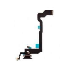 Шлейф нижний с разъемом зарядки белый iPhone XS