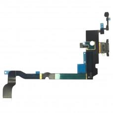 Шлейф нижний с разъемом зарядки черный iPhone XS