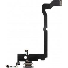 Шлейф нижний с разъемом зарядки белый iPhone XS MAX