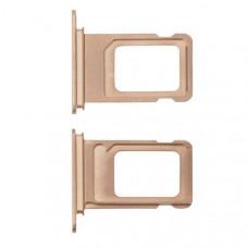 Лоток сим (SIM) карты iPhone XS Max золотой