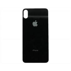 Стекло корпуса заднее iPhone XS Max (черное)