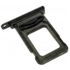 Сим лоток для 2х sim карт iPhone XS Max черный