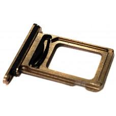 Лоток сим (2-SIM) карты iPhone XS Max золотой
