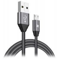 Кабель ROCK Space RCB0510 M5 Metal Micro USB 1м 2А плетеный черный