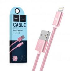 Кабель HOCO X2 Lightning to USB 1м плетеный золотой