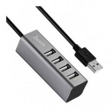 USB HUB HOCO HB1 4xUSB серый