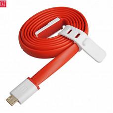 Кабель Micro USB One Plus плоский красный