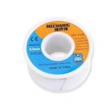 Припой c флюсом в проволоке MECHANIC HX-T100 (0.5мм, 55г)