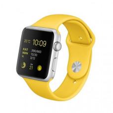 Ремешок Apple Watch 42мм/44мм желтый силикон