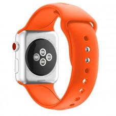 Ремешок Apple Watch 42мм/44мм оранжевый силикон