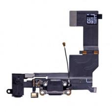 Шлейф зарядки iPhone 5 SE черный