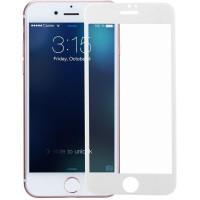 Защитное стекло iPhone 7/8 3D/5D с белой рамкой