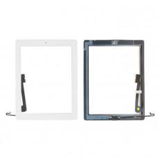 Тачскрин iPad 3/4 в сборе (скотч, кнопка Home) белый