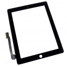 Тачскрин iPad 3/4 в сборе (скотч, кнопка Home) черный