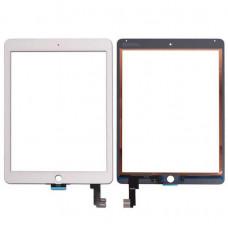 Тачскрин iPad Air/iPad 5-2017 в сборе (скотч, кнопка Home, шлейф) белый