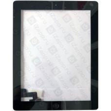 Тачскрин iPad 2 в сборе (скотч, кнопка Home) черный
