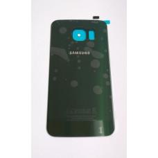 Крышка задняя Samsung S6 Edge зеленая