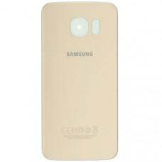 Крышка задняя Samsung S6 золотая
