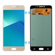 Дисплей Samsung A7 2017 (SM-A720F) OLED золотой