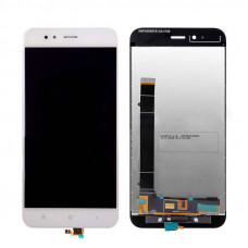 Дисплей Xiaomi Mi A1/Mi 5X белый (экран с тачскрином)