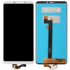 Дисплей Xiaomi Mi Max 3 белый (экран в сборе с тачскрином)