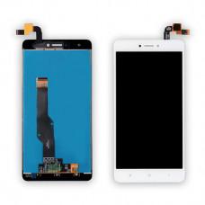 Дисплей Xiaomi Redmi Note 4X белый (модуль в сборе с тачскрином) Индикатор слева